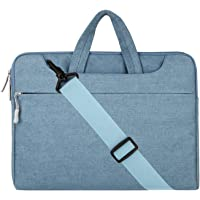 """Mosiso Denim Fabric Sleeve Case Cover Bag with Shoulder Strap 11-11.6"""" Blue"""