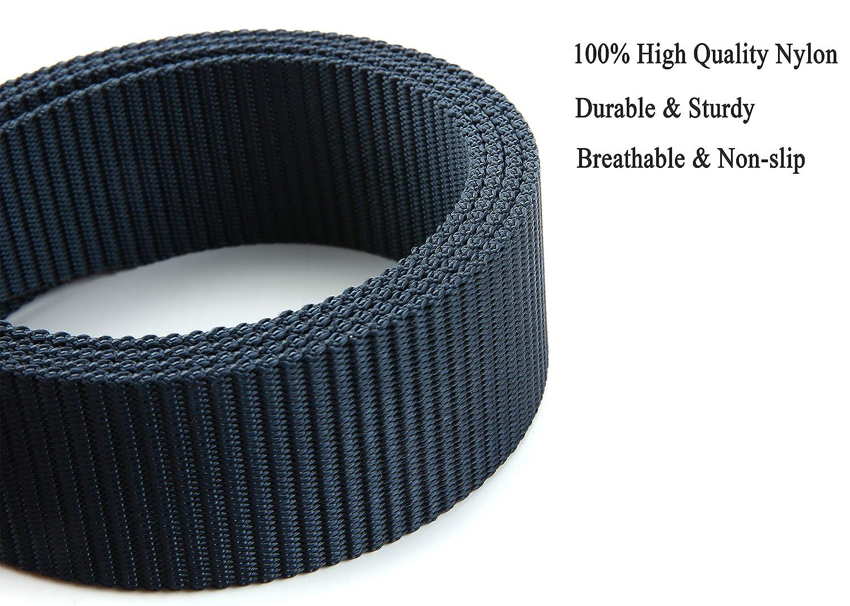 web belt for outdoor travel-plastic//metal buckle for men or women nylon belt Tactical military