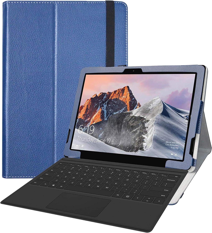 LFDZ TECLAST X6 Pro Funda,Soporte Cuero con Slim PU Funda Caso Case para TECLAST X6 Pro 12.6 Inch 2 in 1 Laptop Tablet(No Compatible TECLAST X6),Azul