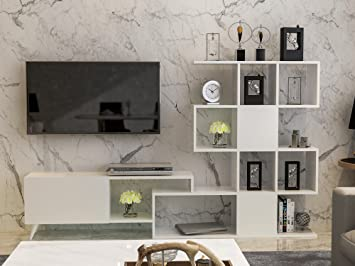 Amazon.com: Decorotika Rosta - Mueble de TV y centro de ...
