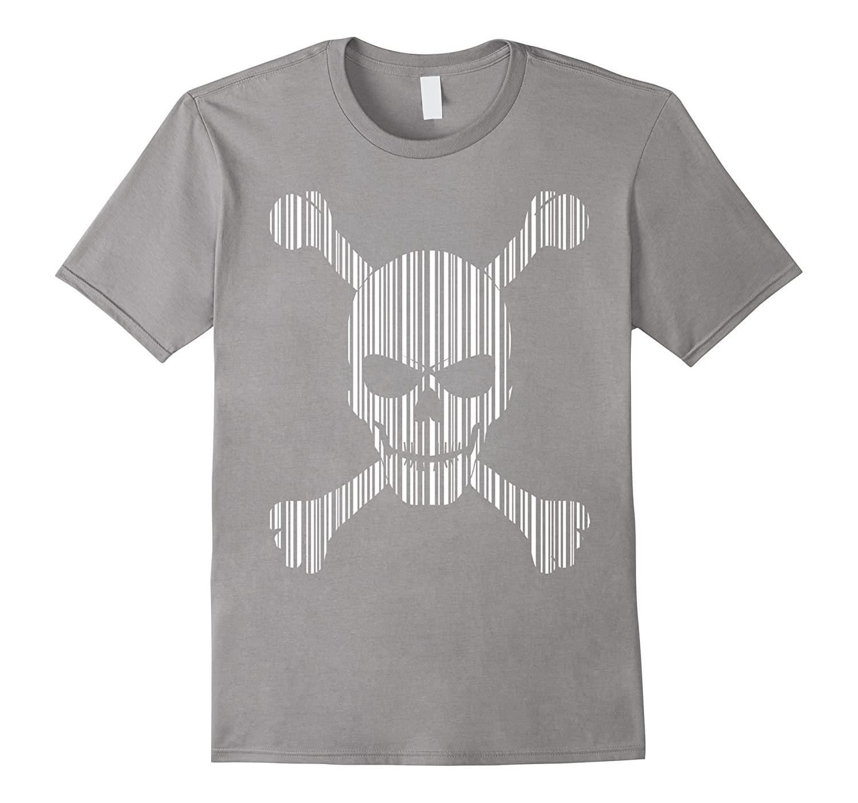 Bar Code Skull T-Shirt in white-FL
