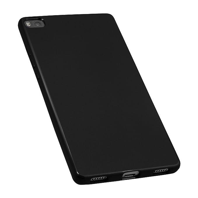 mumbi Funda compatible con Huawei P8, negro: Amazon.es: Electrónica
