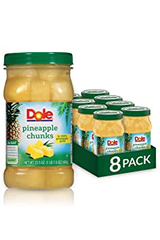 Dole 8 Jars Chunks In 100% Pineapple Juice