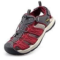 Knixmax-Sandalias de Senderismo Verano para Hombre Mujer Verano Exterior Senderismo Ligeras Antideslizantes Zapatillas…