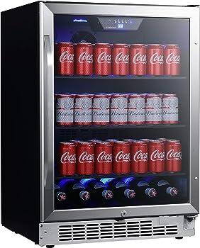EDGESTAR CBR1502SG 142 Cans Beverage Cooler/ Refrigerator