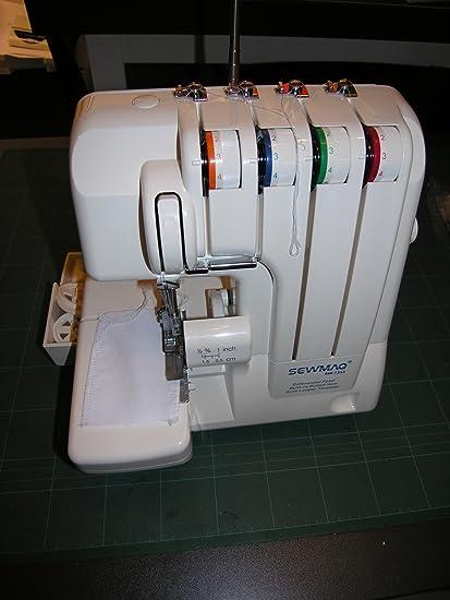 Máquina de coser Overlock Sewmaq SW1333, roll dobladillo, diferencial, interruptor de seguridad