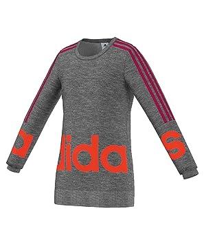 adidas YG W Lin Sweat - Sudadera para niña, Color Gris/Rosa, Talla 170: Amazon.es: Zapatos y complementos