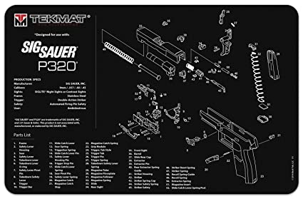 Amazon.com : TekMat SIG SAUER P320 GUN CLEANING MAT, THICK, DURABLE ...