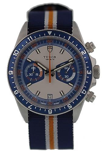 Tudor Reloj Automático Suizo De Patrimonio 70330B 95740 para Hombres: Tudor: Amazon.es: Relojes
