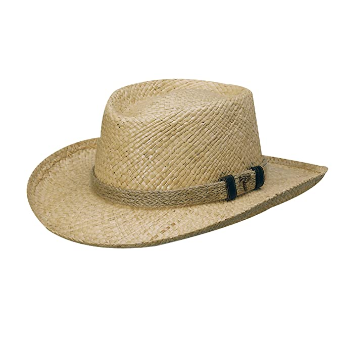 d7015f6f5ff Scala Organic Raffia Gambler with Jute HAT (M) at Amazon Men s Clothing  store