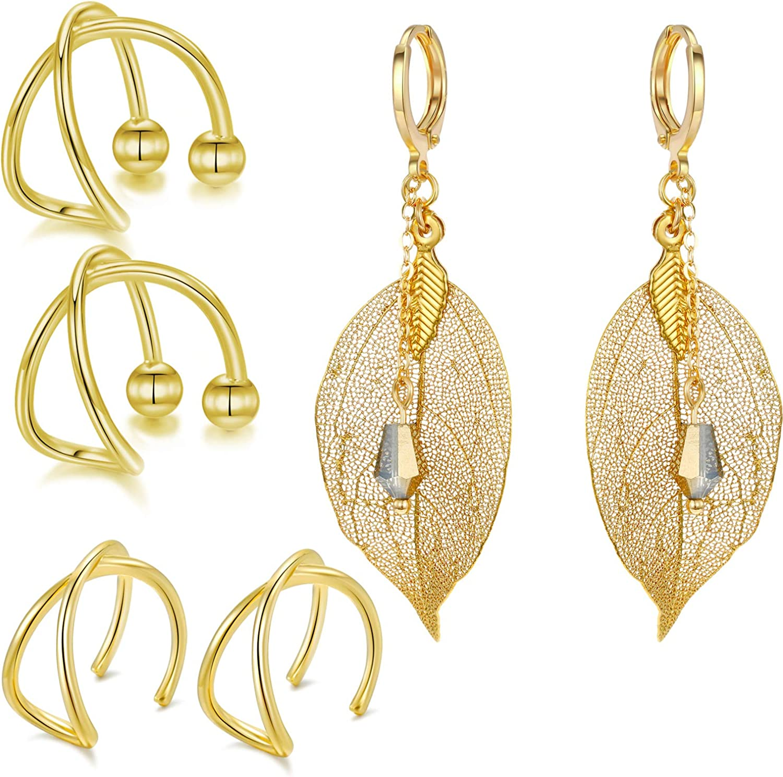 Leaf Earrings  Gold Hoop Earrings  Daily Earrings  Nature Jewelry  Nature Earrings  Gold Filled  Dangling Earrings