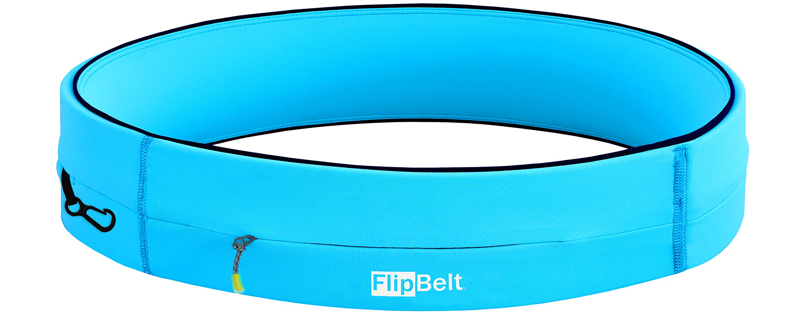 FlipBelt Running & Fitness Workout Belt, Aqua, X-Large by FlipBelt
