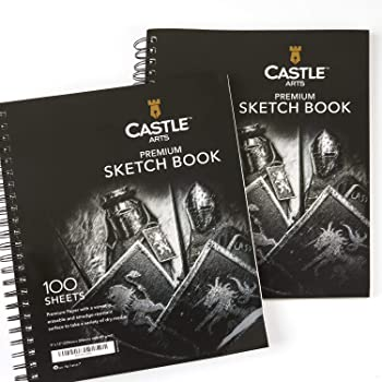 Castle Art Supplies Premium Charcoal Drawing Sketch Books