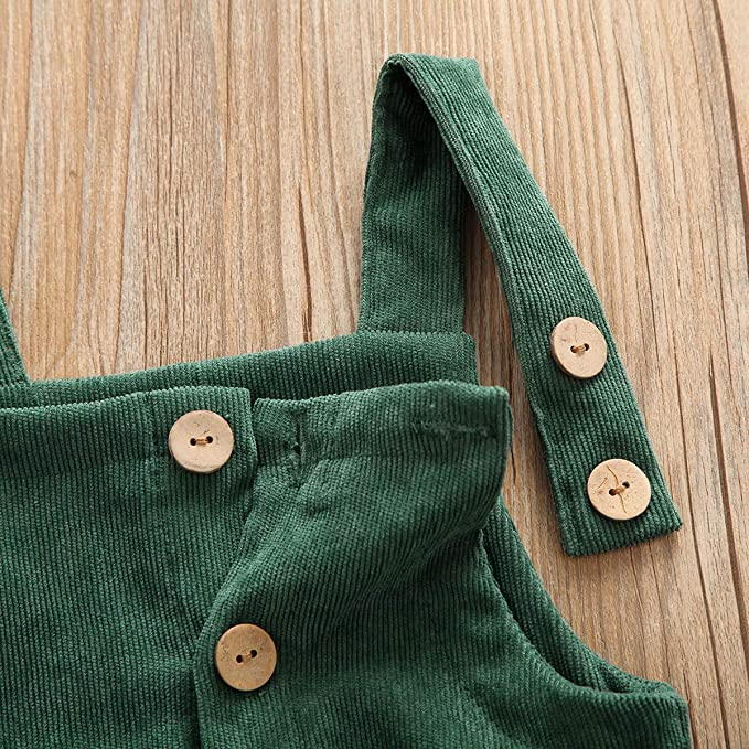 Fall-Winter Bib Pants Suspender Trousers Bottom Clothes Dourbesty Toddler Baby Girl Boy Overalls Corduroy Basic Plain Pocket