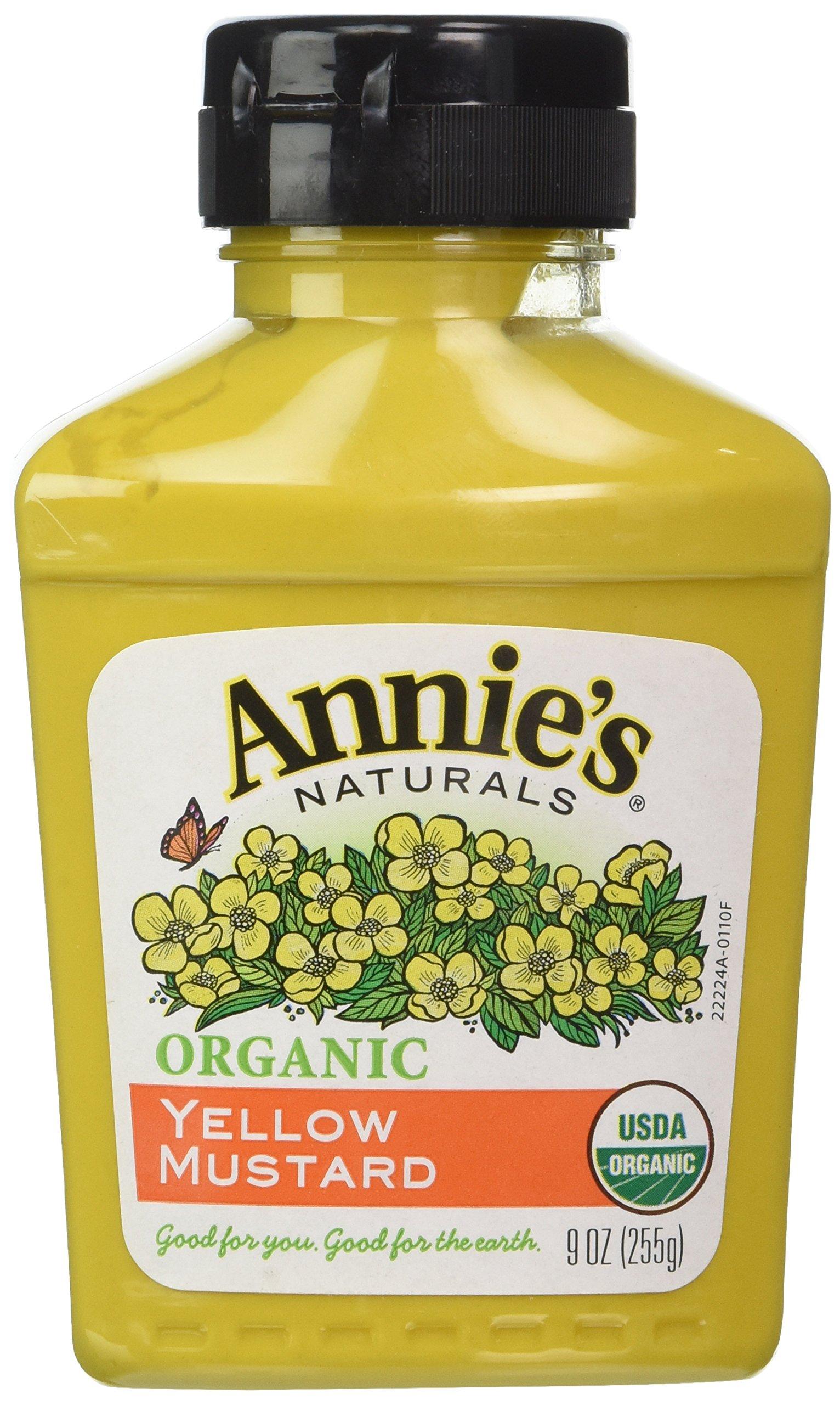 Annie's Organic Yellow Mustard, 9-Ounces