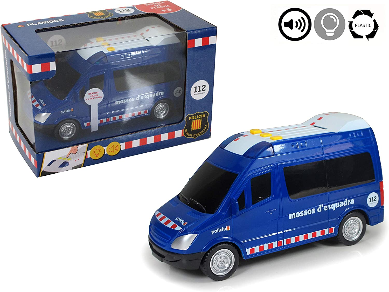 PLAYJOCS Furgón de Mossos con luz, Sonido y fricción GT-4817 ...