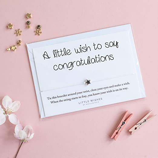 A Little Wish to Say Felicidades pulsera con sobre de buena ...
