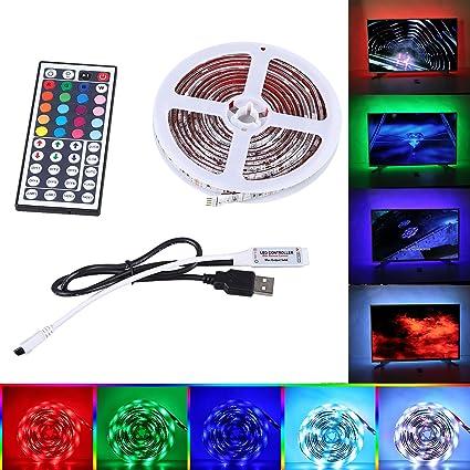 USB Tira LED Luz, Sparek 2x50cm+2x100cm 5050 RGB TV ambiente de iluminación +