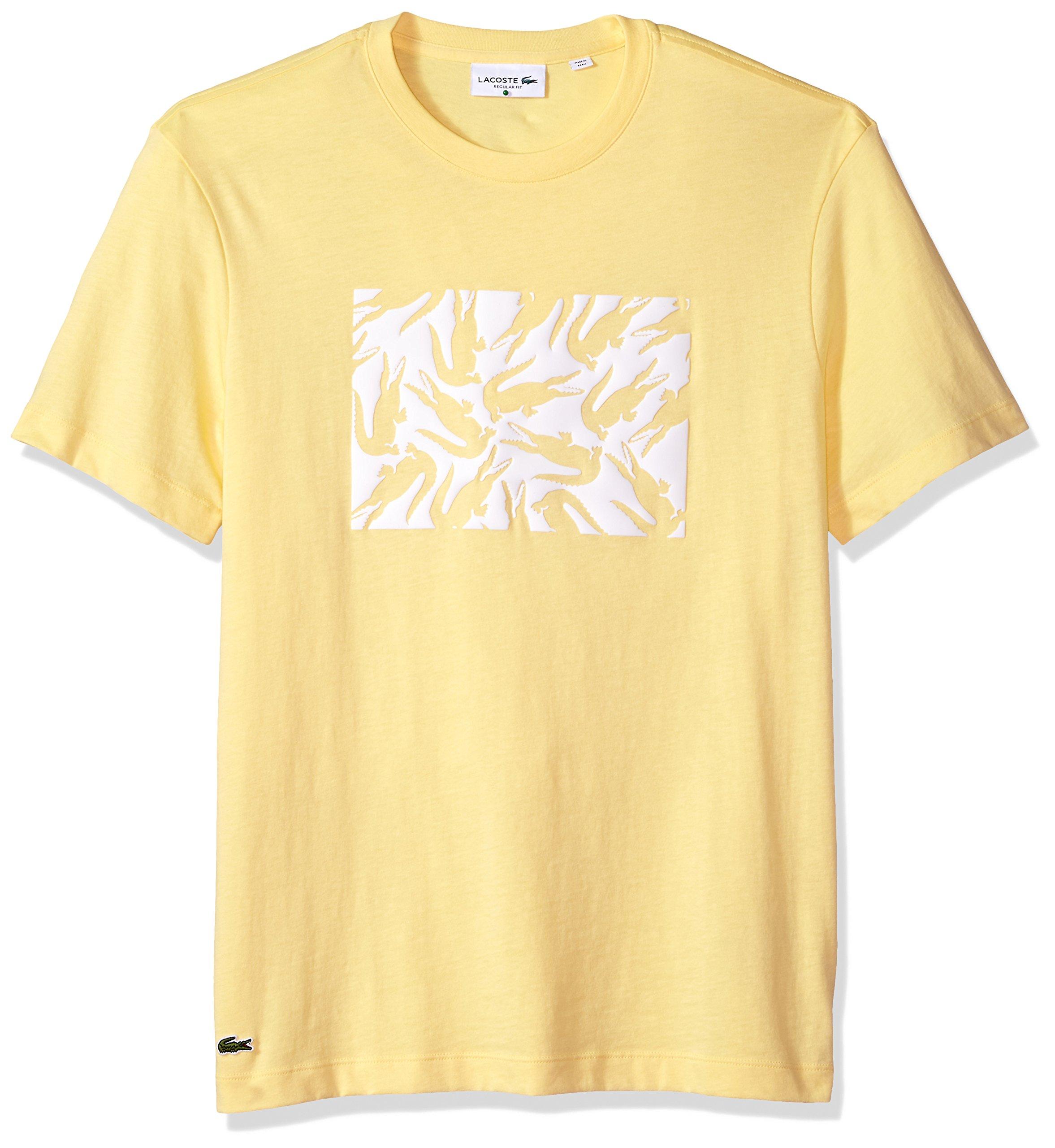 496cd83ba8420e Galleon - Lacoste Men s Short Sleeve Jersey Multi Croc Regular Fit T-Shirt