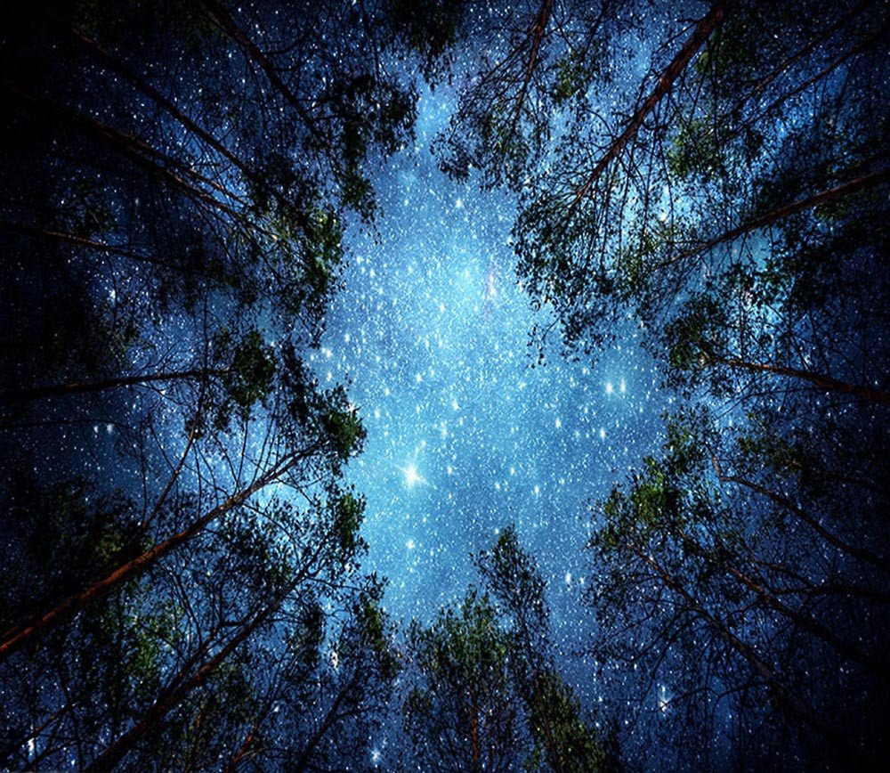 Weiliru Starry Sky in The Night Tapestry Wall Hanging Tapestry Watercolor Printed Tapestry for Bedroom Living Room Dorm Room Bedspread Beach