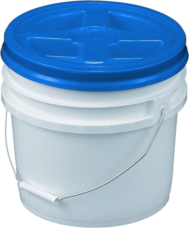 Bucket Kit, 3.5 Gallon Bucket with Blue Gamma Seal Screw-on threaded lid