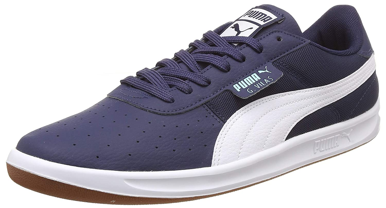 27726363bef Puma Men s G. Vilas 2 Core IDP Peacoat White Sneakers  Buy Online at Low  Prices in India - Amazon.in