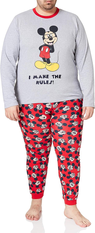 Cerdá - Pijama Hombre de Mickey Mouse - Licencia Oficial Disney