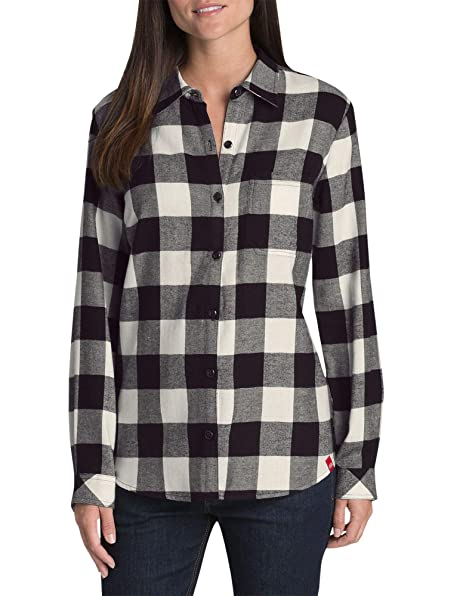 f2cd678efb839 Dickies Women s Plus-Size Long-Sleeve Plaid Flannel Shirt  Amazon.ca   Clothing   Accessories