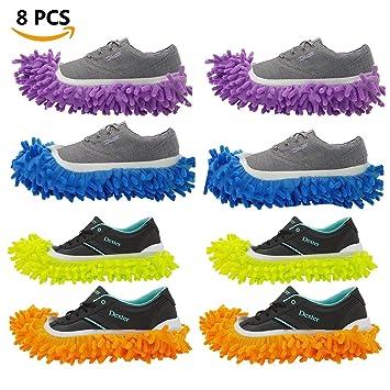 8 unidades (4 pares) Mopping Zapatillas Zapatos Para, Floor Mop Zapatillas, polvo
