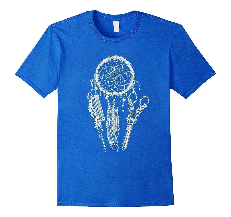 Hair stylist dreamcatcher shirt tee apron hairdresser best for Hair salon t shirt designs