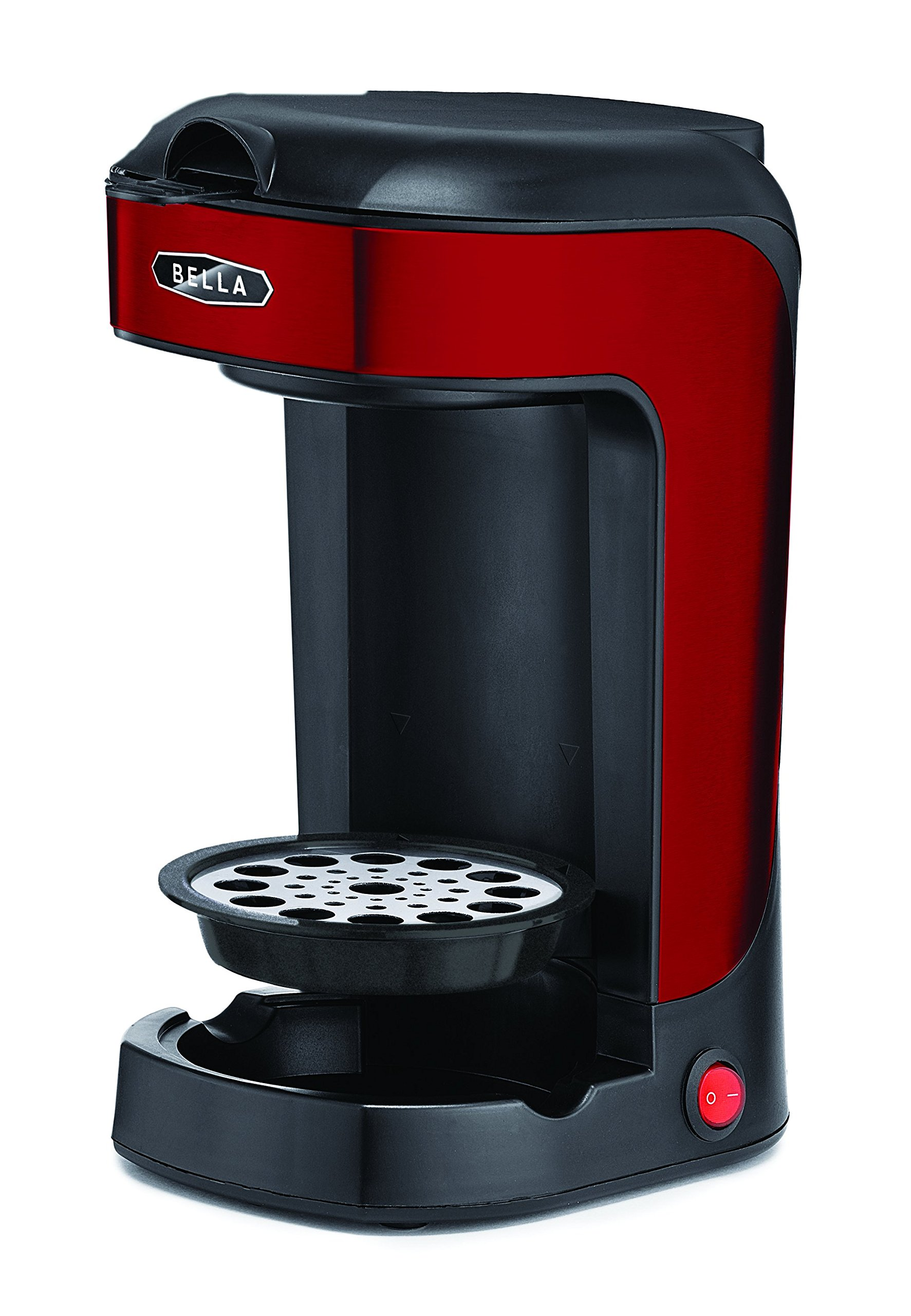 Bella BLA14485 One Scoop One Cup Coffee Maker, Red and Stainless Steel by BELLA