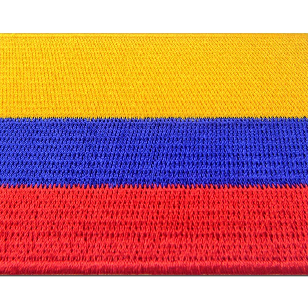 Bandera de Colombia Colombiano Emblema nacional Parche Bordado de Aplicaci/ón con Plancha