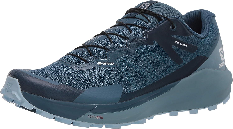 Salomon Women's SENSE RIDE 3 GTX Invisible Fit W, Trail Running Shoe