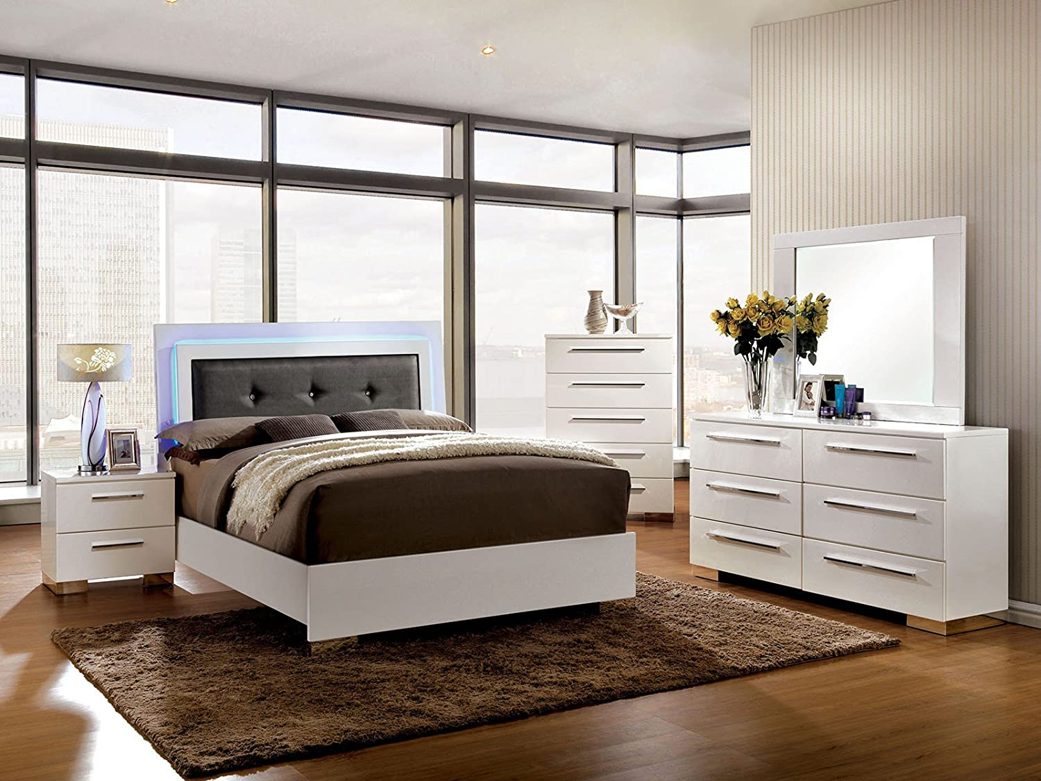 Amazon Com Furniture Of America Bedroom Set White Kitchen Dining