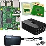 Viaboot Raspberry Pi 3 Power Kit — UL Listed 2.5A Power Supply, Premium Black Case Edition