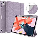 """Soke iPad Pro 11 Inch 2018 Case with Pencil Holder, Premium Trifold Case [Strong Protection + Apple Pencil Charging Supported], Auto Sleep/Wake, Soft TPU Back Cover for New iPad Pro 11"""" Violet"""