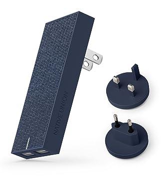 Native Union Cargador Smart Internacional - Esbelto Cargador de Pared con 2 Puertos USB-A y Tecnología Smart IC - Adaptadores para EE.UU, Canadá, ...