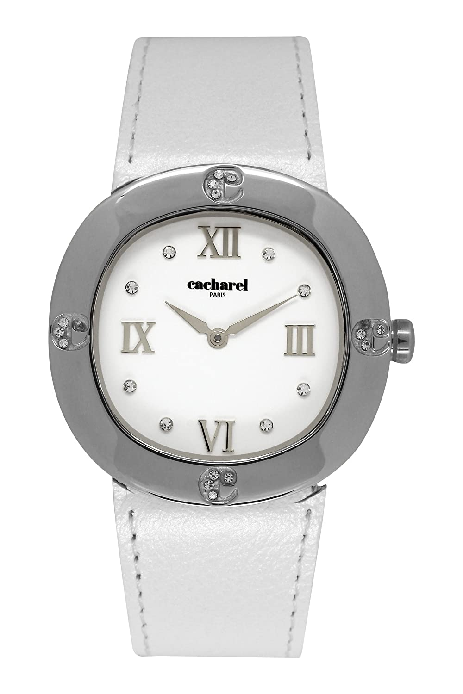 Cacharel Damen-Armbanduhr Analog Quarz Leder CLD 006-BB
