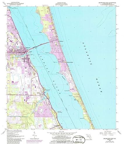Amazon Com Florida Maps 1949 Melbourne East Fl Usgs Historical