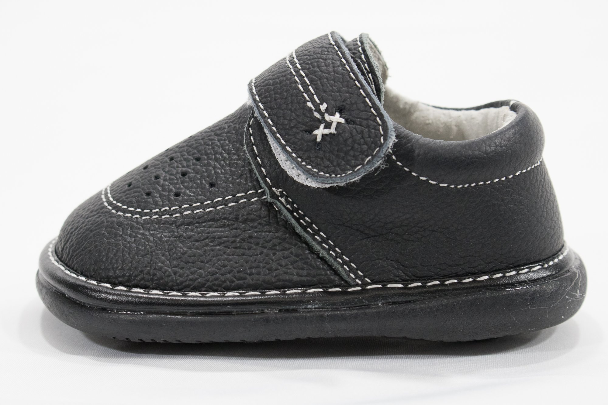 Anderson Baby Care LLC Squeaky Shoes for Toddler Boys (4T, Black Loafer) by Anderson Baby Care LLC (Image #3)