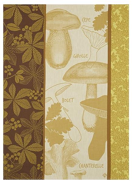 Le Jacquard Francais paños poelee D automne, algodón, lichen, 60 x 80