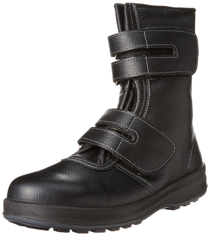 [シモン] 安全靴 長編上 マジック  WS38 B00R6VTLGU ブラック 25.5 cm 3E