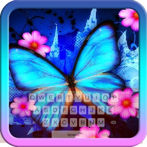 Amazon Com Beautiful Blue Butterfly Keyboard Theme Free Themes Backgrounds Wallpapers Appstore For Android