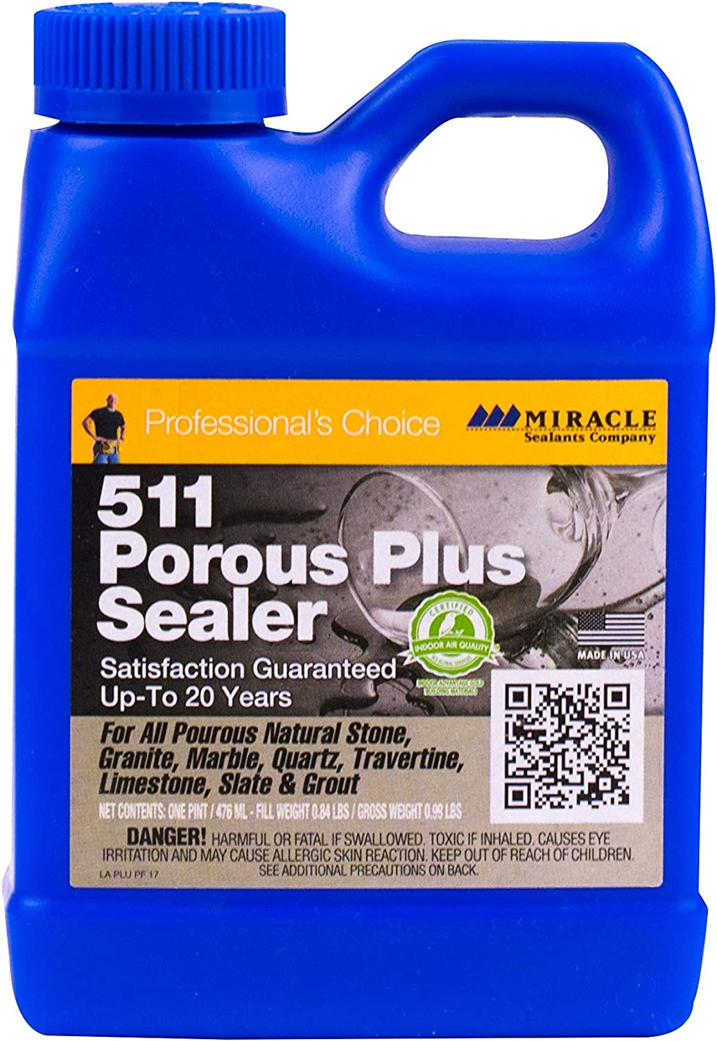 Miracle Sealants PLUSPT6 511 Porous Plus Penetrating Sealers, Clear
