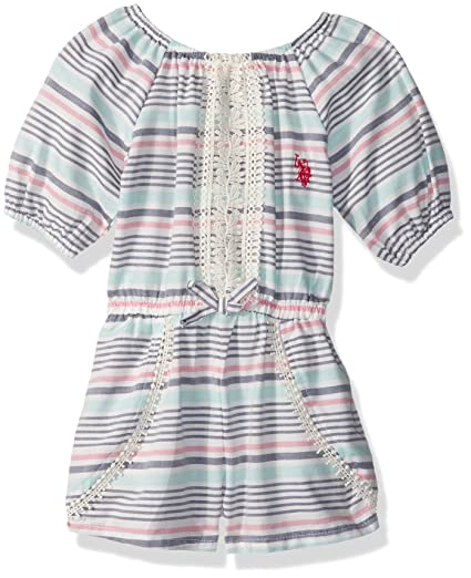 Amazon Com U S Polo Assn Girls Romper Clothing