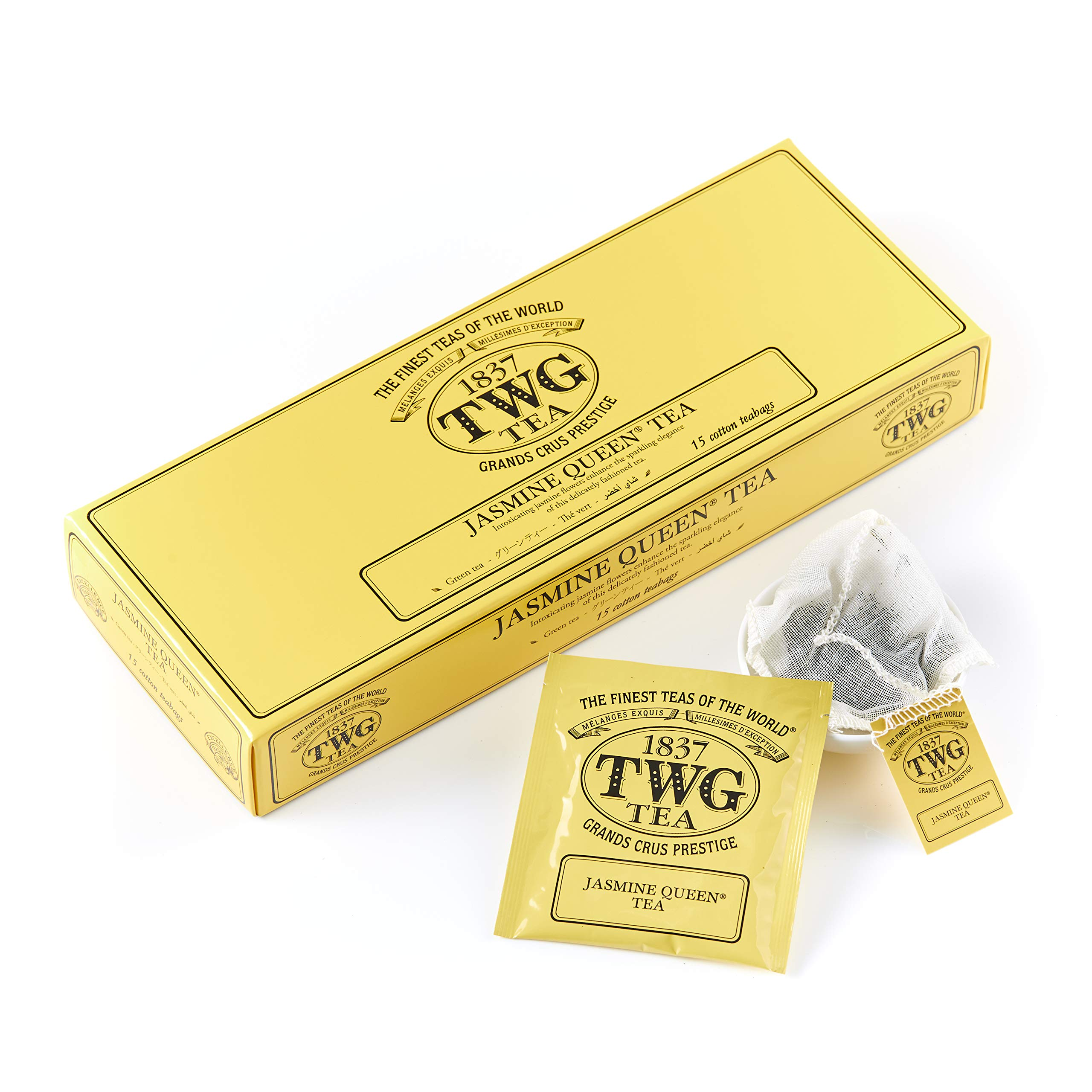 TWG Singapore - Luxury Teas - JASMINE QUEEN GREEN TEA - 15 Hand sewn pure cotton tea bags