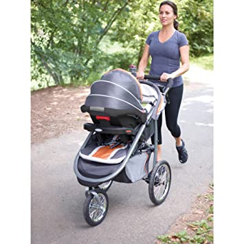 Graco® FastAction™ Fold Jogger Travel System with SnugRide® Click Connect™  35 Infant Car Seat – Tangerine  Amazon.ca  Baby b5fc54496