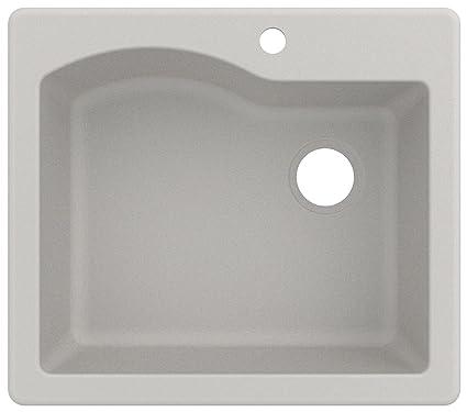 Kraus KGD-441WHITE Granite Kitchen Sink, 25-inch, White - - Amazon.com