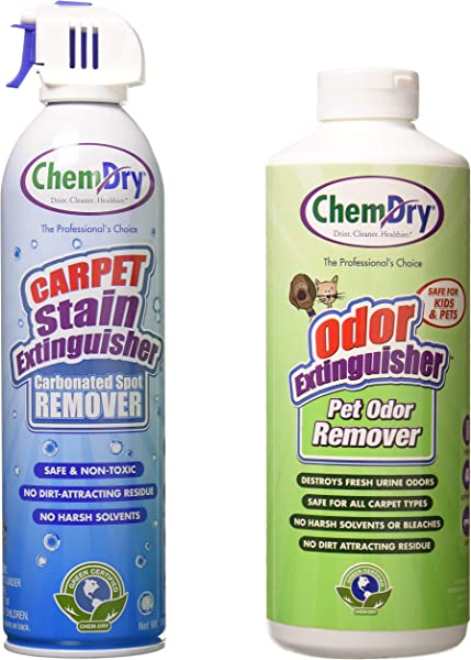 Chem Dry Carpet Stain Extinguisher And Pet Odor Extinguisher Combo 18 Oz 2 Pack Health Personal Care