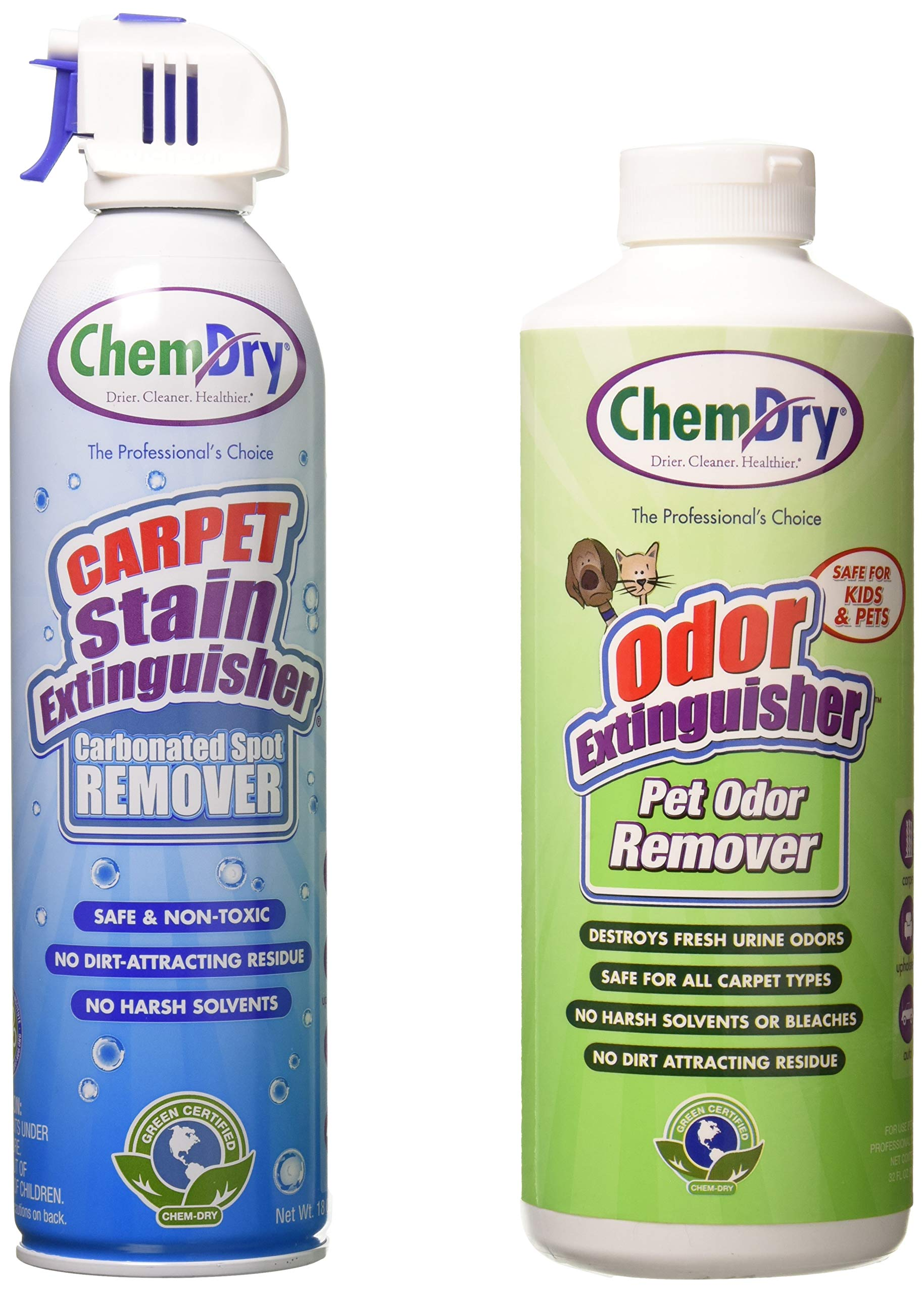 Chem-Dry Carpet Stain Extinguisher and Pet Odor Extinguisher Combo 18. oz  2 pack